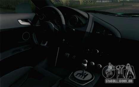 Audi R8 V8 FSI 2014 Dubai Police para GTA San Andreas vista direita