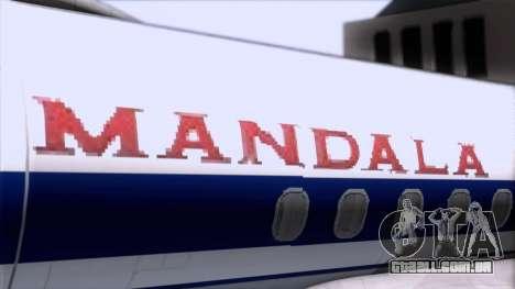 L-188 Electra Mandala Airlines para GTA San Andreas vista traseira