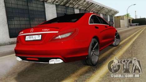 Mercedes-Menz CLS63 AMG para GTA San Andreas esquerda vista
