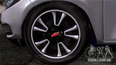 Chevrolet Onix para GTA San Andreas traseira esquerda vista