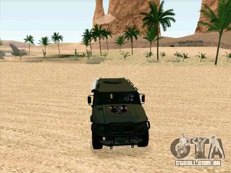GAZ 2975 para GTA San Andreas esquerda vista