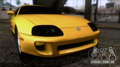 Toyota Supra S-Spec (JZA80) 1993 ECO AUDIT para GTA San Andreas vista traseira