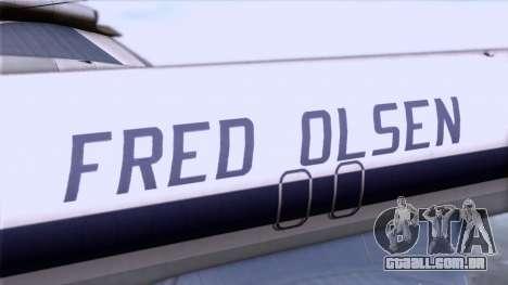 L-188 Electra Fled Olsen para GTA San Andreas vista direita