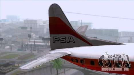 L-188 Electra PSA para GTA San Andreas traseira esquerda vista