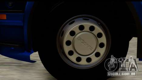 Scania G 4х6 para GTA San Andreas vista traseira