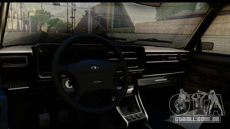 VAZ 21074 para GTA San Andreas vista interior