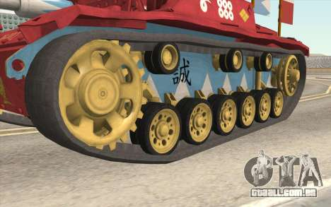 StuG III Ausf. G Girls and Panzer Color Camo para GTA San Andreas vista traseira