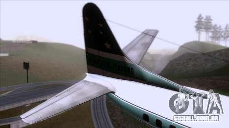 L-188 Electra Air New Zealand para GTA San Andreas traseira esquerda vista