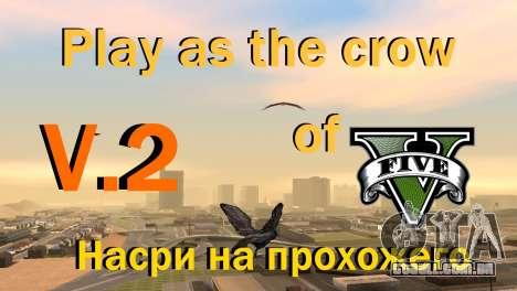 A oportunidade de jogar para o pássaro v2 para GTA San Andreas