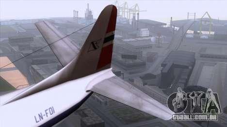 L-188 Electra Fled Olsen para GTA San Andreas vista traseira