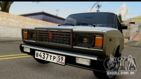 VAZ 21074 para GTA San Andreas traseira esquerda vista