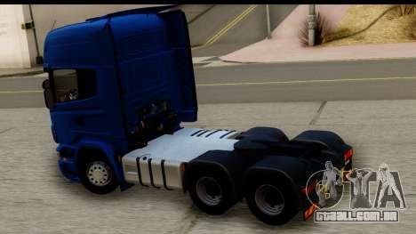 Scania G 4х6 para GTA San Andreas vista direita