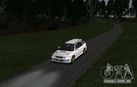 Subaru Impreza Sports Wagon WRX STI para GTA San Andreas vista traseira