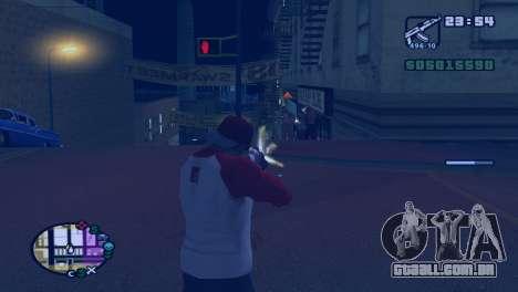 Retardar o tempo, enquanto tiro em GTA V para GTA San Andreas segunda tela