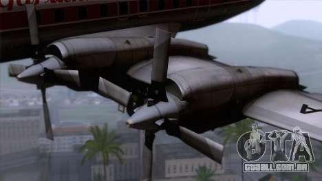 L-188 Electra Garuda Indonesia para GTA San Andreas vista traseira