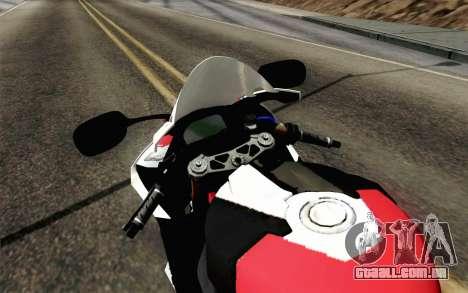 BMW S1000RR HP4 v2 Red para GTA San Andreas vista direita