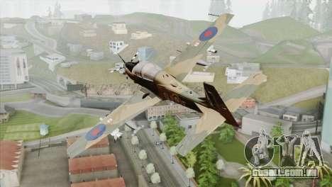 Embraer A-29B Super Tucano RAF para GTA San Andreas esquerda vista