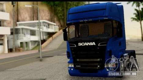 Scania G 4х6 para GTA San Andreas traseira esquerda vista