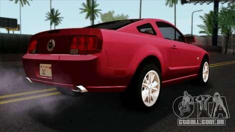 Ford Mustang GT PJ Wheels 2 para GTA San Andreas esquerda vista