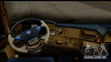 Scania G 4х6 para GTA San Andreas vista interior