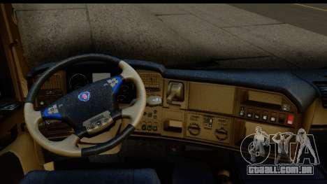 Scania G 4х6 para GTA San Andreas vista interior