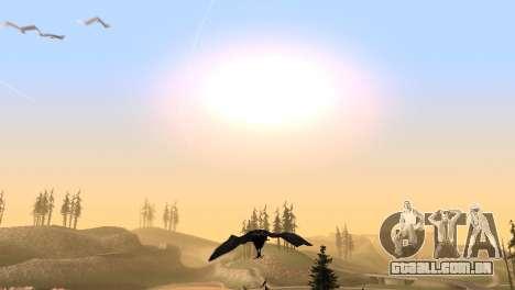 A oportunidade de jogar para o pássaro v2 para GTA San Andreas sexta tela