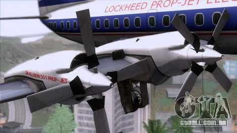 Lockheed L-188 Electra para GTA San Andreas vista direita