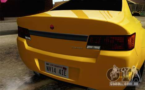 GTA 5 Cheval Fugitivo FIV АПП para GTA San Andreas vista traseira