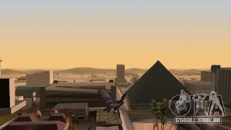A oportunidade de jogar para o pássaro v2 para GTA San Andreas por diante tela