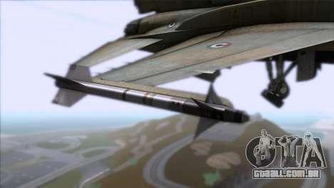 F-16F Fighting Falcon United Arab Emirates para GTA San Andreas vista direita