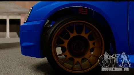 Subaru Impreza WRX STI 2004 para GTA San Andreas vista traseira