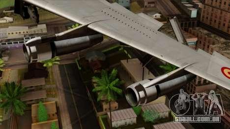 Boeing 707-300 Fuerza Aerea Espanola para GTA San Andreas vista direita