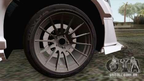 Subaru BRZ para GTA San Andreas traseira esquerda vista