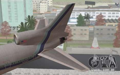 Lookheed L-1011 Eastern Als para GTA San Andreas traseira esquerda vista