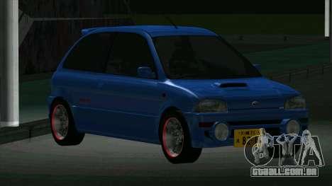 Subaru Vivio RX-R para GTA San Andreas esquerda vista