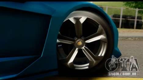 GTA 5 Zentorno Cabrio para GTA San Andreas vista traseira