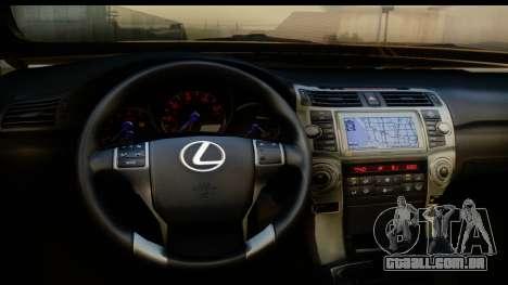 Lexus GX460 para GTA San Andreas vista interior