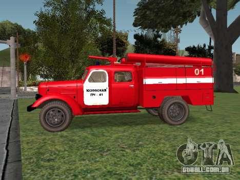 ZIL 164 Fogo para GTA San Andreas esquerda vista