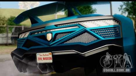 GTA 5 Zentorno Cabrio para GTA San Andreas vista direita