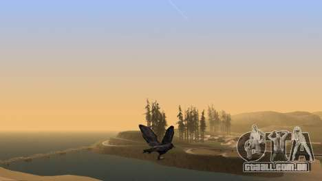 A oportunidade de jogar para o pássaro v2 para GTA San Andreas quinto tela