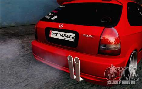 Honda Civic DRY Garage para GTA San Andreas vista traseira
