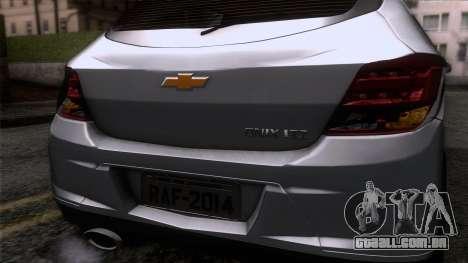 Chevrolet Onix para GTA San Andreas vista traseira