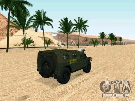GAZ 2975 para GTA San Andreas traseira esquerda vista