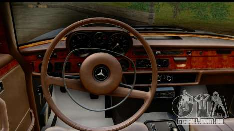 Mercedes-Benz 300 SEL 6.3 (W109) 1967 FIV АПП para GTA San Andreas vista interior
