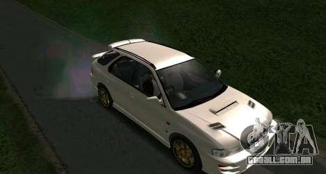 Subaru Impreza Sports Wagon WRX STI para GTA San Andreas traseira esquerda vista