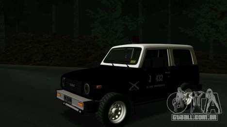Suzuki Samurai para GTA San Andreas esquerda vista