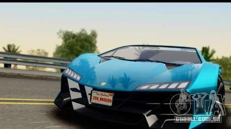 GTA 5 Zentorno Cabrio para GTA San Andreas traseira esquerda vista
