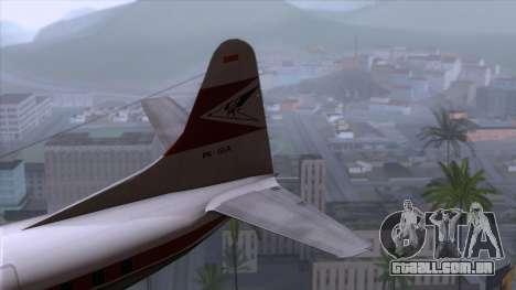 L-188 Electra Garuda Indonesia para GTA San Andreas traseira esquerda vista