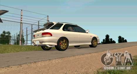 Subaru Impreza Sports Wagon WRX STI para GTA San Andreas esquerda vista