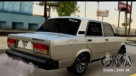 VAZ 21074 para GTA San Andreas esquerda vista